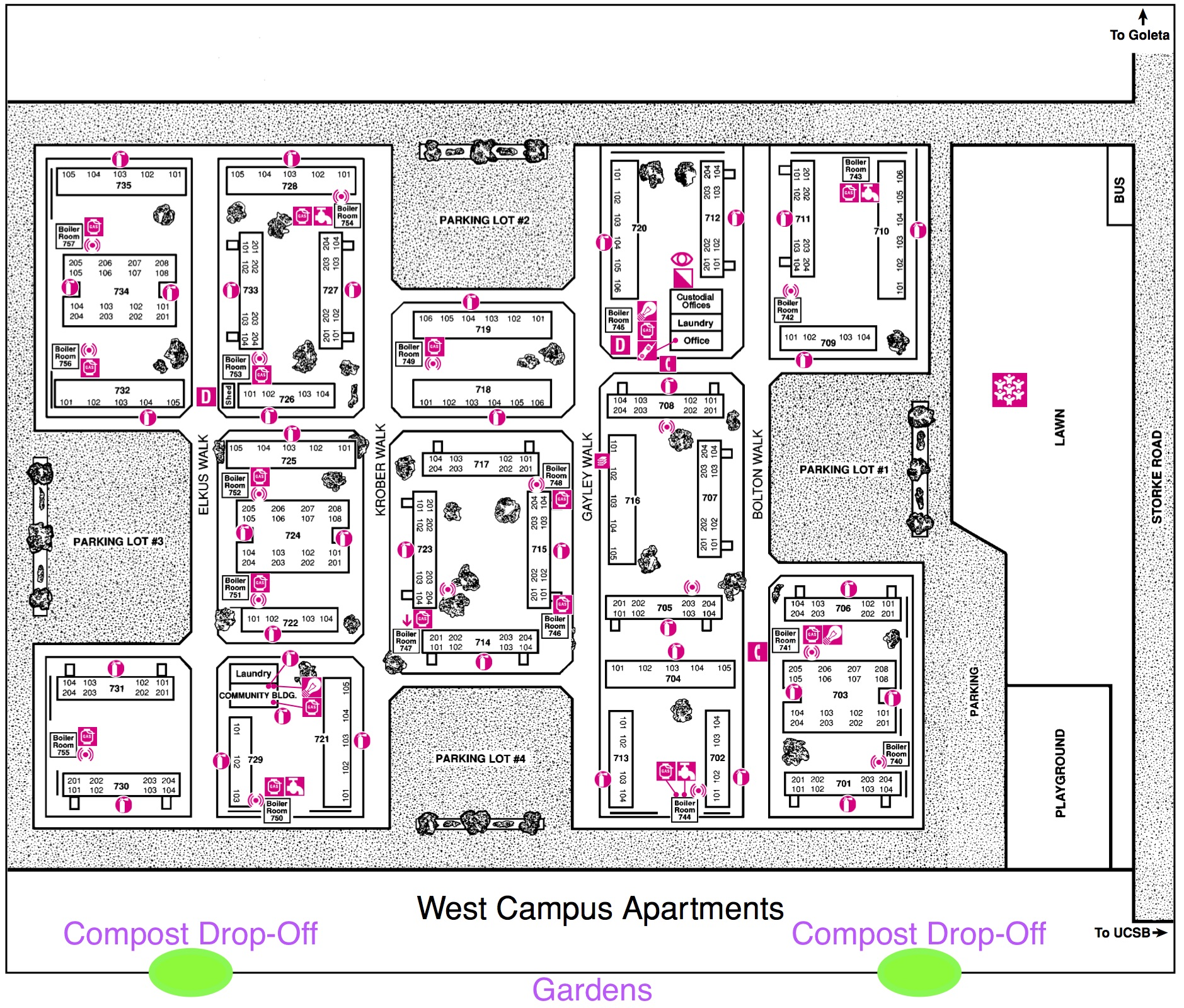 West Campus Gardens Map 2016 As Department Of Public Worms Dpw